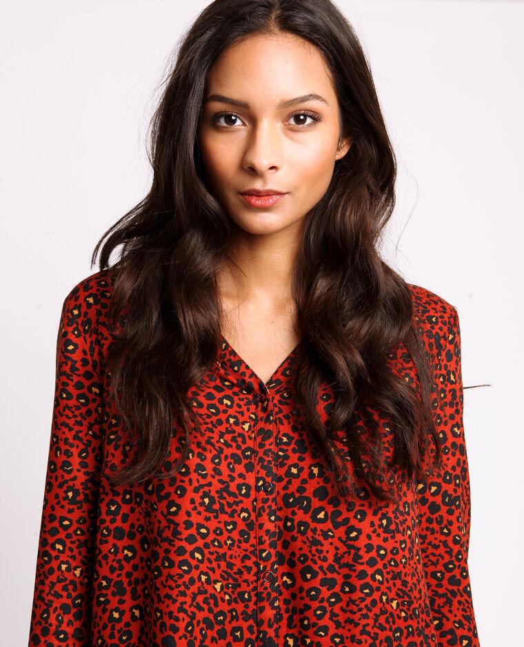 Robe léopard rouge