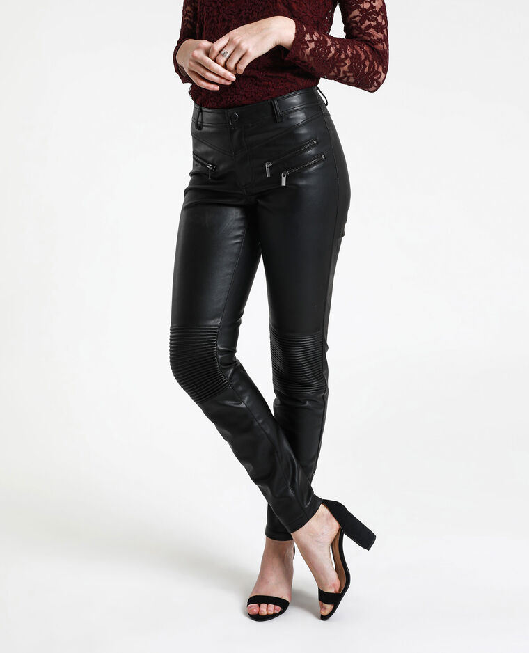 pantalon simili cuir zip