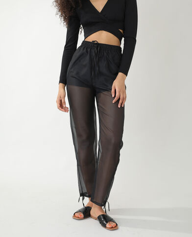 Pantalon transparent noir - Pimkie