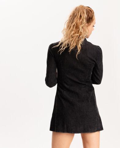 Robe en jean zippée gris foncé