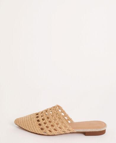 Sandales plates en rafia beige ficelle - Pimkie
