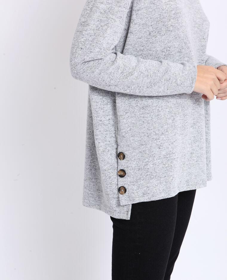 T-shirt doux gris chiné