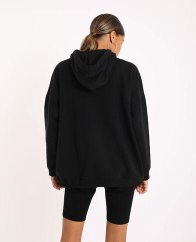 Sweat oversized à capuche noir