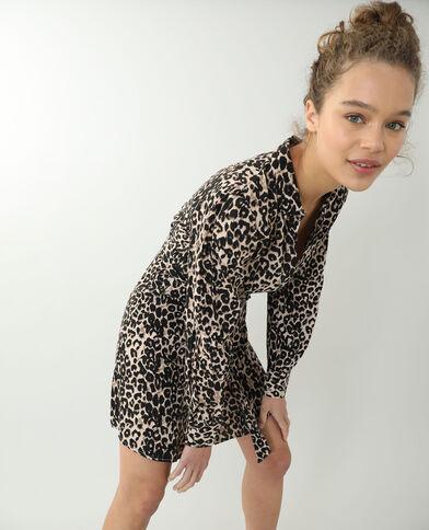 Robe effet léopard marron - Pimkie