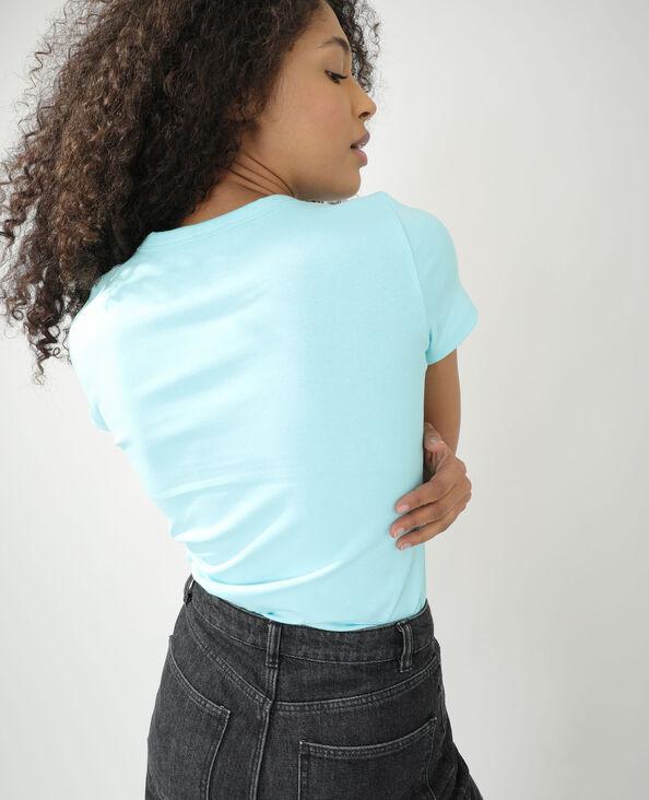 T-shirt basique bleu