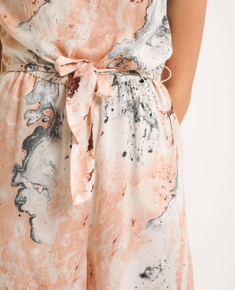 Combi-pantalon effet marbre blanc