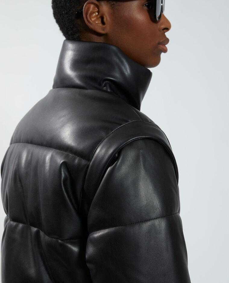 Doudoune en simili cuir noir - Pimkie