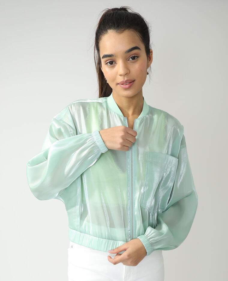 Bomber transparent vert pistache - Pimkie