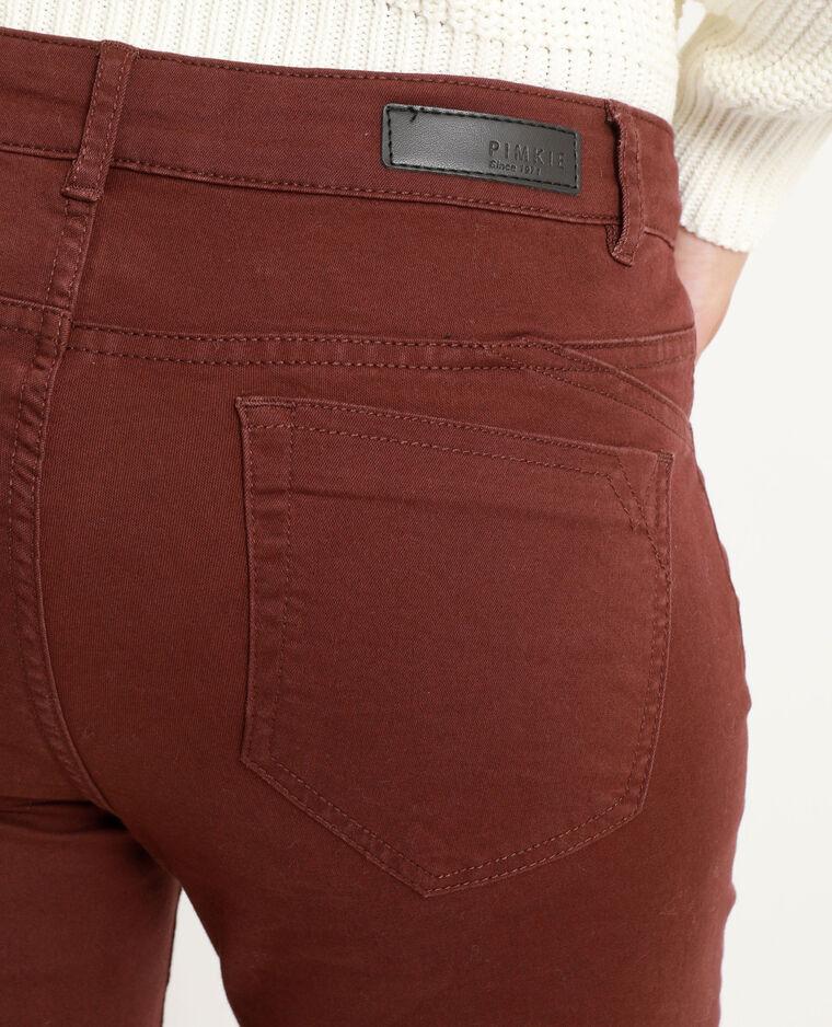 Skinny push up mid waist rouge