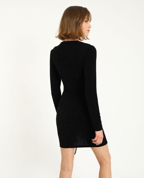 Robe shiny noir