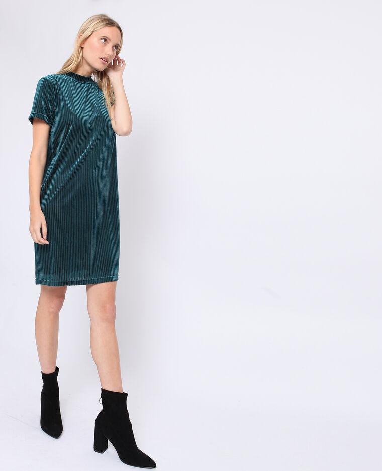 Robe à manches courtes vert