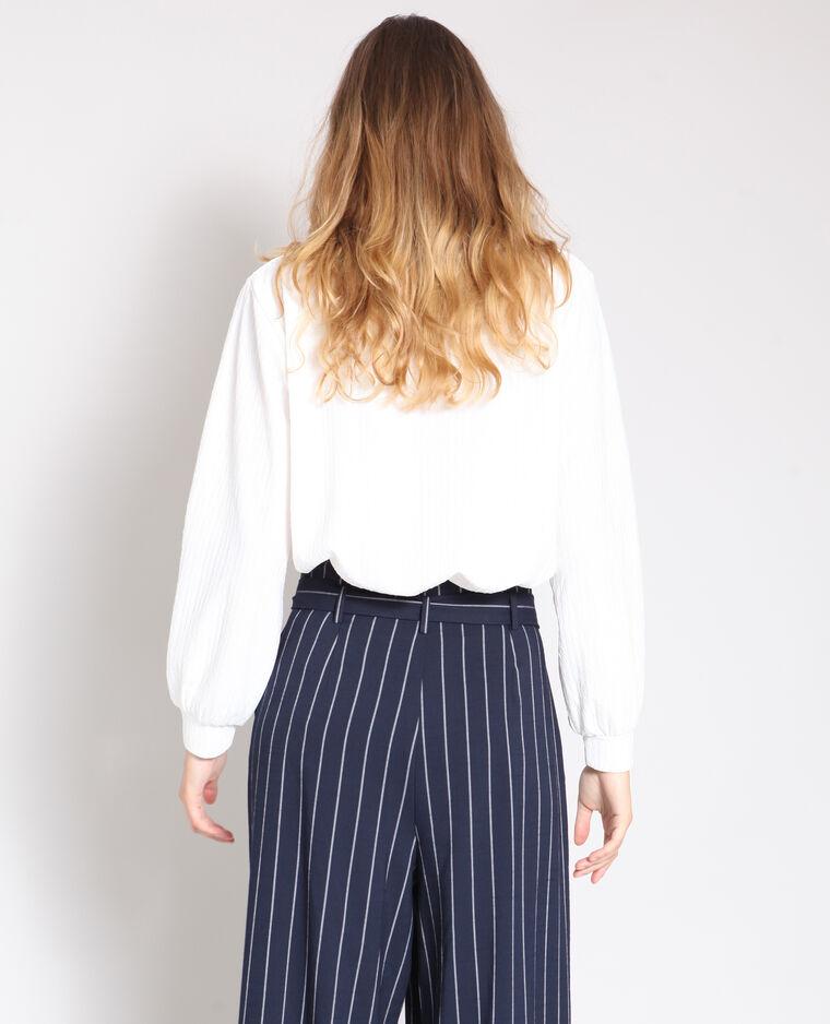 T-shirt à manches longues blanc