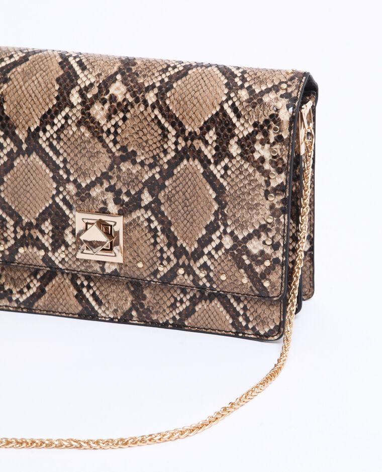 Petit sac python marron