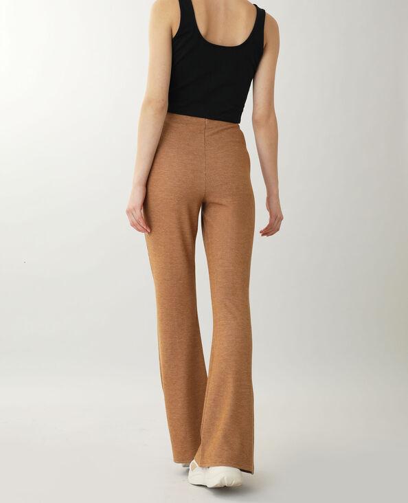 Pantalon en maille marron