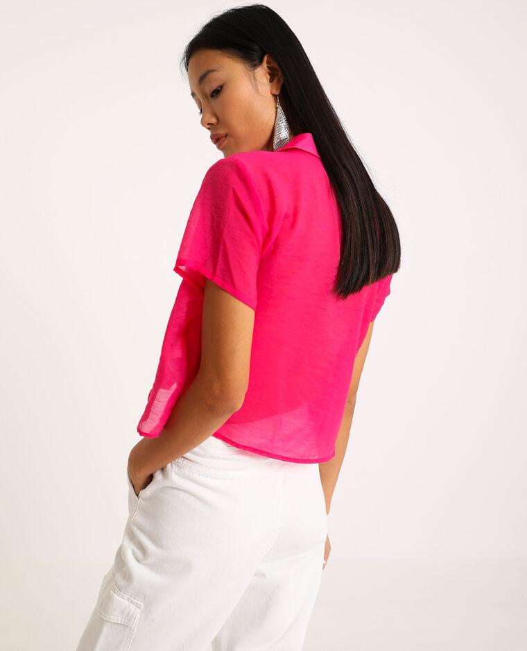 Chemise à manches courtes rose