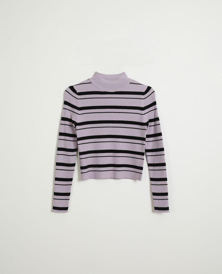 Pull moulant fine côte violet