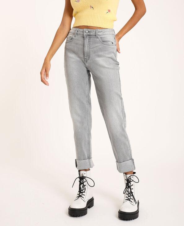 Jean straight gris