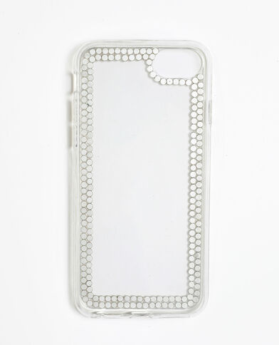 Coque à strass pour iPhone 6/6S/7/8 gris