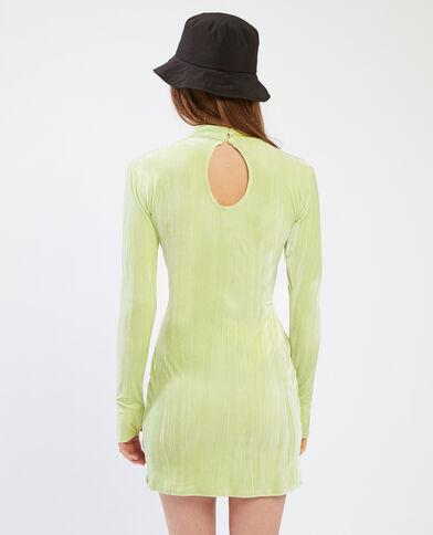 Robe en velours vert fluo - Pimkie