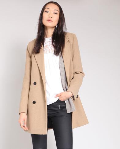Manteau en laine caramel 246d7864bf18