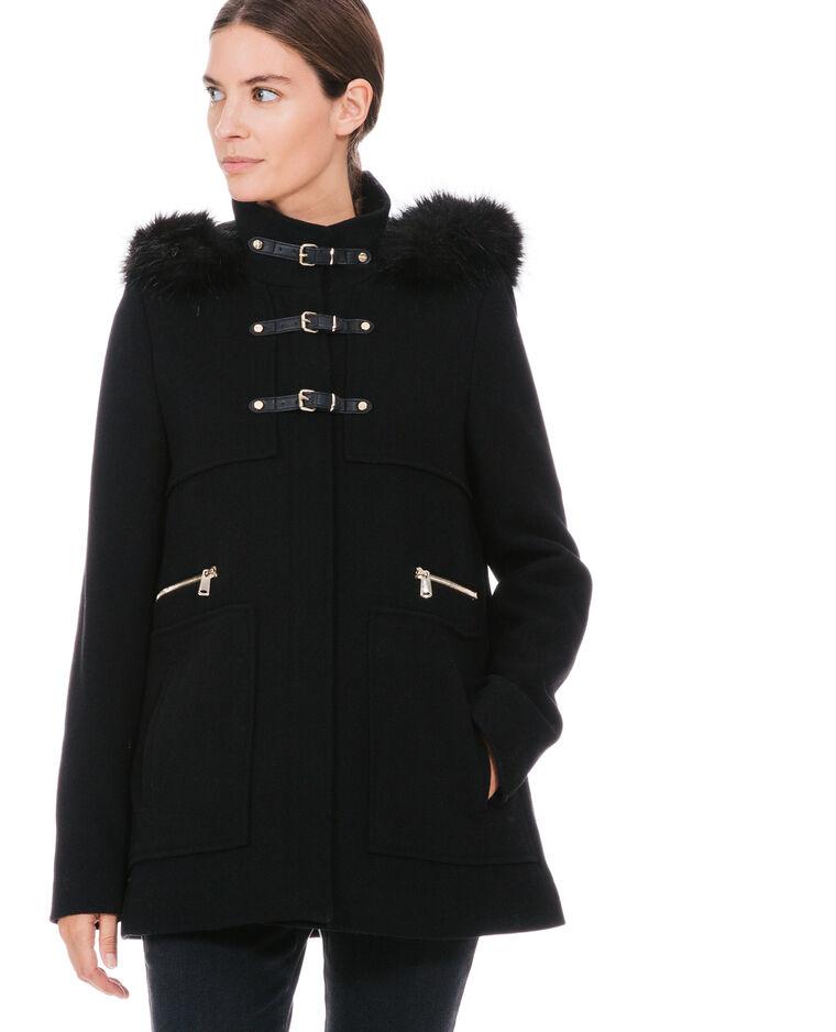 Duffle coat à capuche noir - 281045899A08  9c394f5ead1