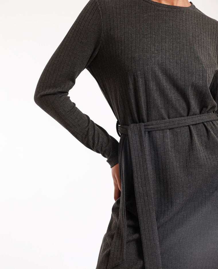 Robe maille gris anthracite