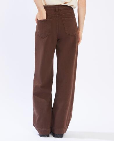Jean large marron - Pimkie