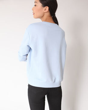 Sweat brodé bleu ciel