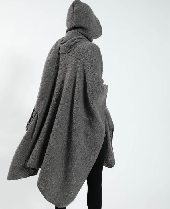 Poncho à capuche gris - Pimkie