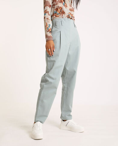 Pantalon city high waist gris