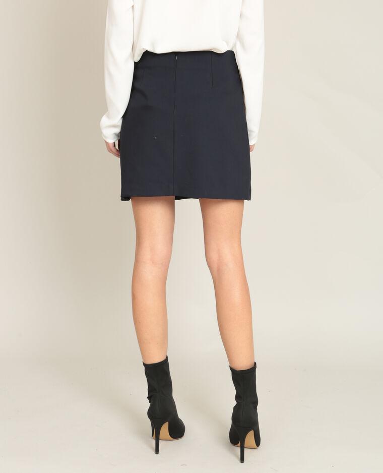 Mini jupe portefeuille bleu marine