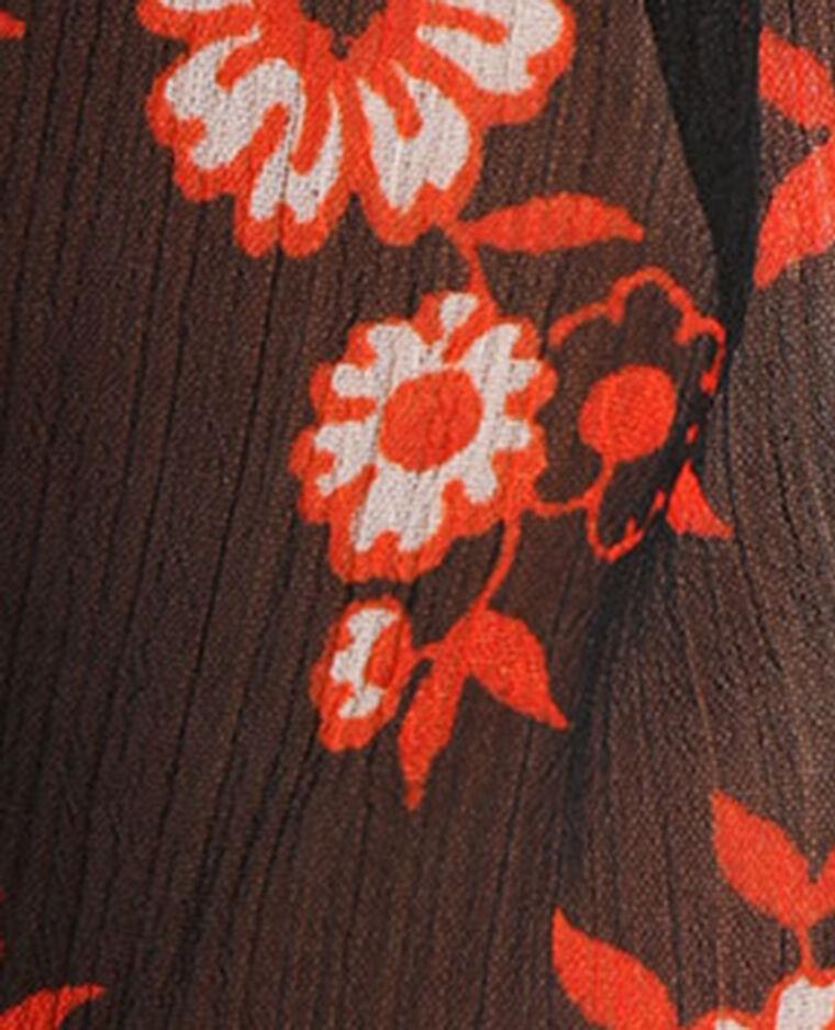 Top à smock noir + rouge - Pimkie