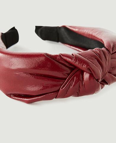 Serre-tête effet noué simili cuir rouge - Pimkie