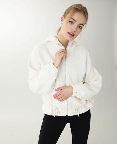 Veste à capuche blanc cassé - Pimkie