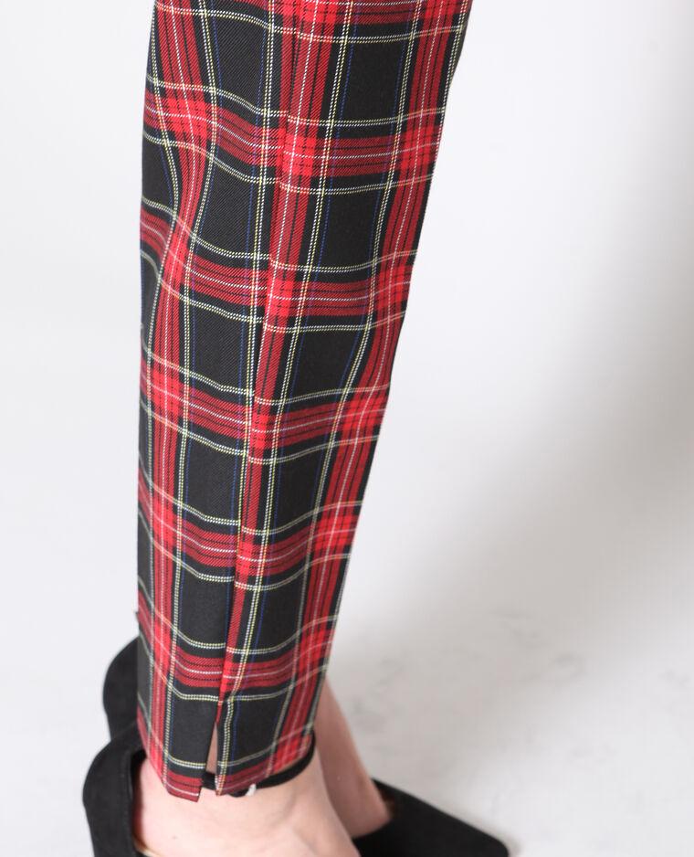 Pantalon imprimé tartan noir