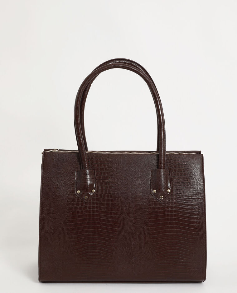 Grand sac rigide marron