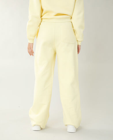 Jogging molleton jaune pâle - Pimkie