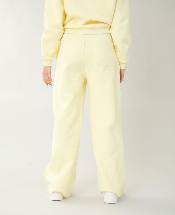Jogging molleton jaune pâle