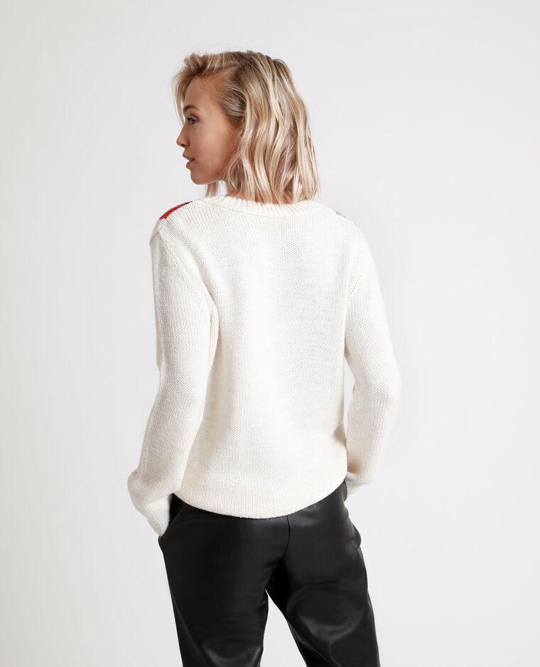 Pull jaquard blanc - Pimkie
