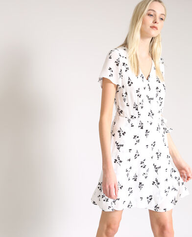 Robe cache-cœur blanc