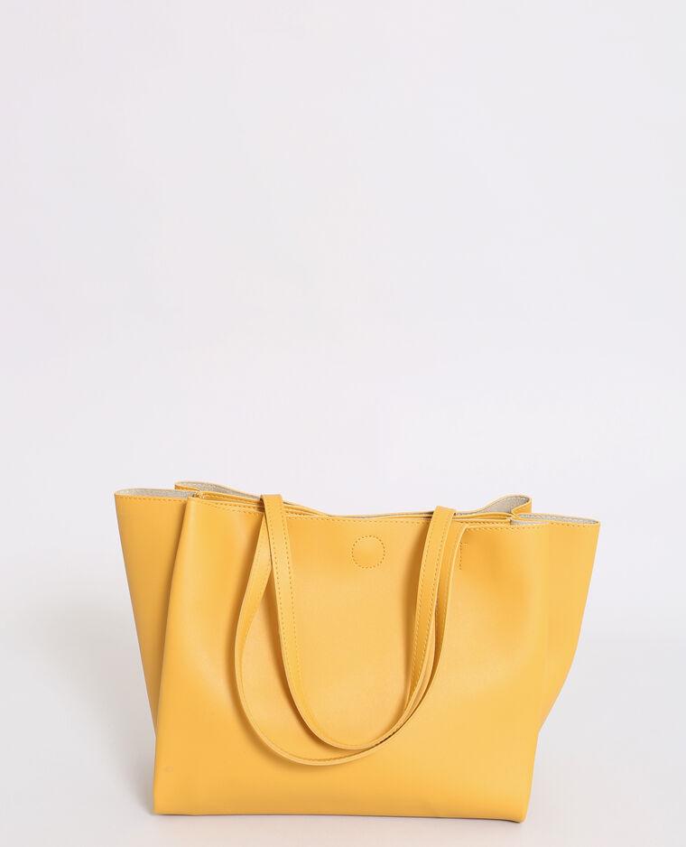 8974335dfe Sac cabas souple jaune chaud - 916510004C08 | Pimkie