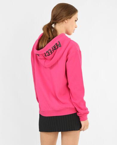 Sweat à capuche rose fushia - Pimkie