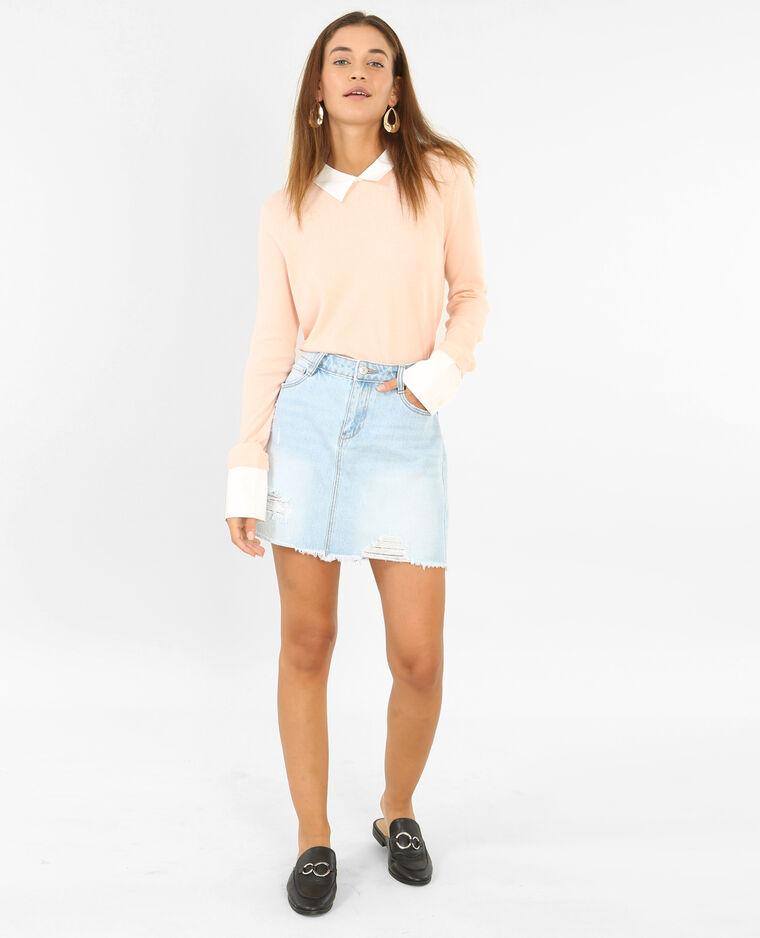 Pull chemise rose