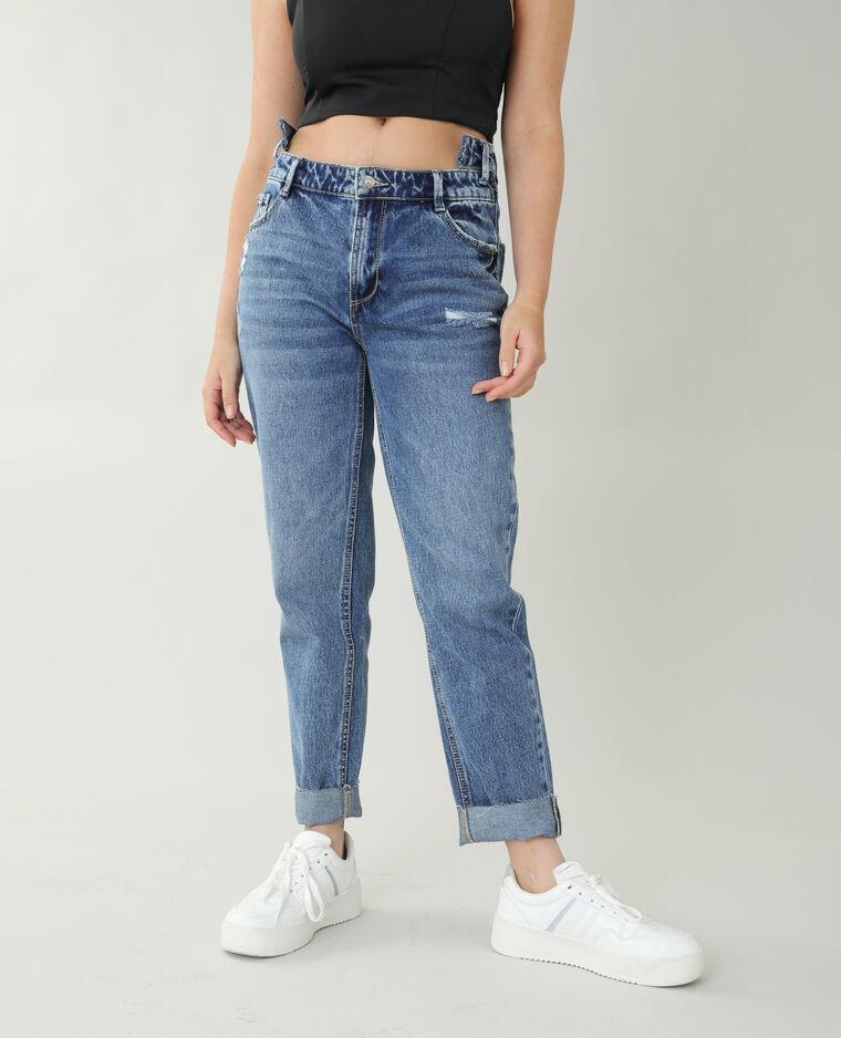 Jean straight high waist bleu brut