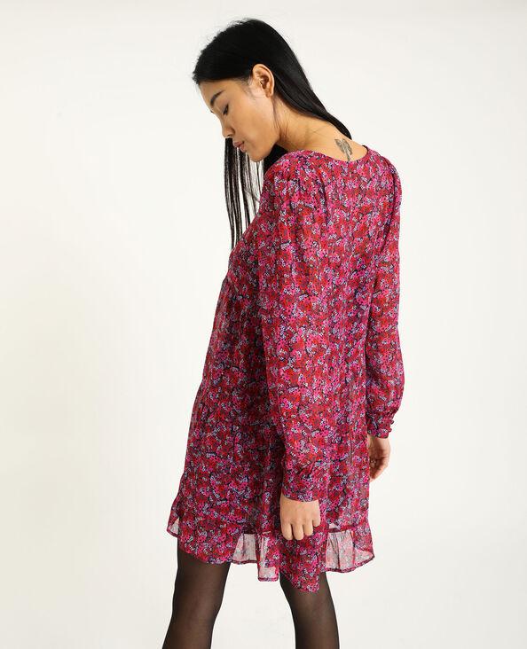 Robe courte à volants rose