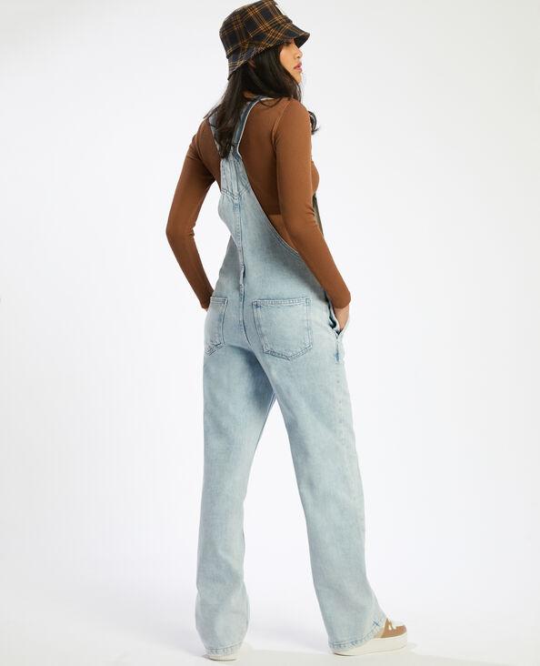 Salopette en jean bleached bleu denim - Pimkie