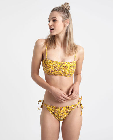 Haut de bikini python jaune