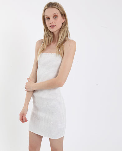 Robe en smock blanc - Pimkie