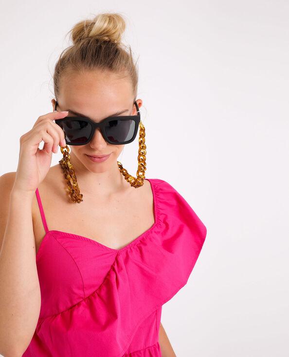 Chaine à lunettes en écailles marron