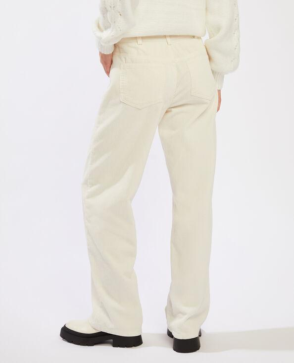 Pantalon velours blanc - Pimkie